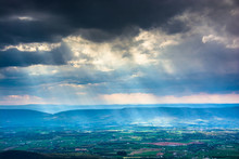 Crepuscular Rays Over The Shenandoah Valley, Seen From Little St