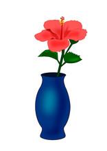 Vase With Hibiscus