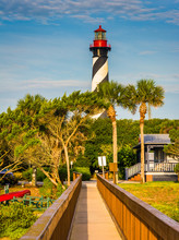 St. Augustine Lighthouse, In St. Augustine, Florida.