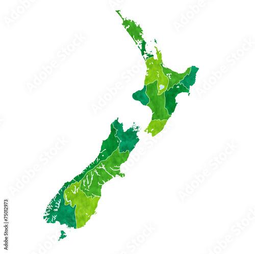 ニュージーランド 地図 国 Canvas Print