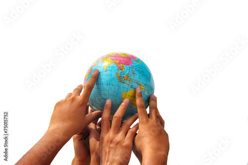 Fotografie, Tablou  hand holding globe