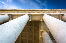 Looking Up At Columns At The Thomas Jefferson Memorial, Washingt