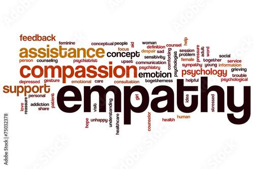 Fotografia  Empathy word cloud