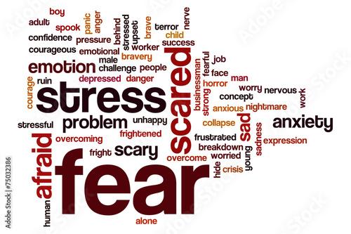 Fotografie, Tablou  Fear word cloud