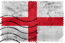 England Flag - Old Postage Stamp
