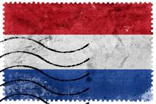 Netherlands Flag - Old Postage...