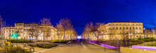Evening View Of Feucheres Avenue In Nimes - France, Languedoc-Ro