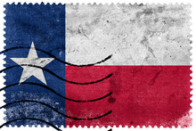 Texas State Flag - Old Postage Stamp