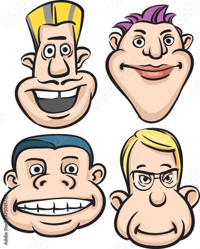 Fotografia, Obraz  Eccentric People Heads