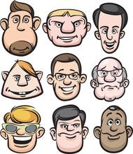 Comic Men Faces