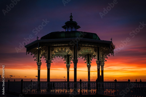 Photo Brighton Bandstand Sunset