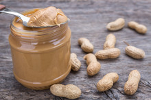 Jar Of Peanut Butter With Nuts...