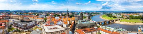 Canvastavla Panoramic view of Dresden