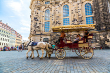 Horse Carriages In Dresden, Ge...