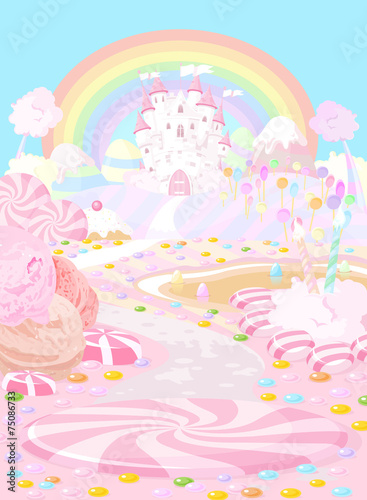 Garden Poster Fairytale World Candy land