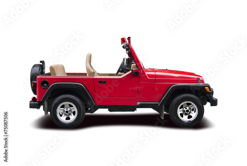Fotomural Firefighter Jeep wrangler