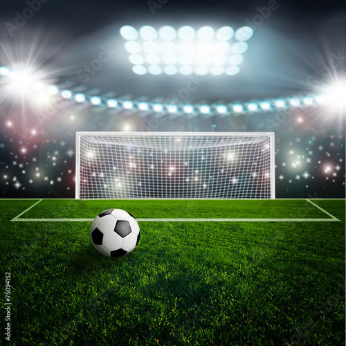 pilki-noznej-pilka-na-zielonej-stadium-arenie