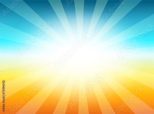 Fotografie, Obraz  Vintage Background with Sunrise Shining