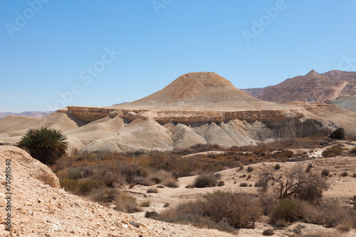 Foto op Canvas UFO The hill in the form of a flying saucer in the Negev desert
