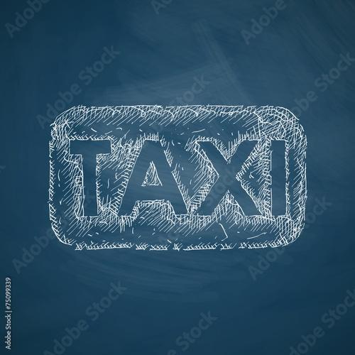 Papel de parede taxi icon