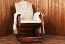 Rocking Chair Covered With Pla...