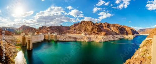 Fotografie, Obraz  Panorame Hoover Dam