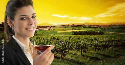 Papiers peints Vignoble red wine