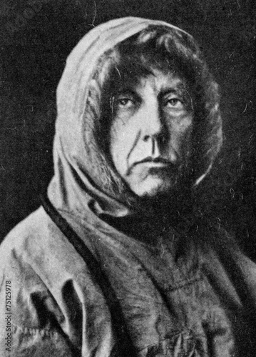 Photo Stands Antarctic Roald Amundsen, Norwegian explorer of polar regions