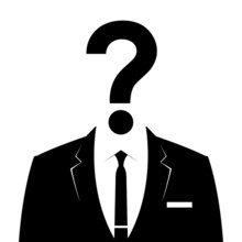 Businessman Icon With Question Mark As A Head