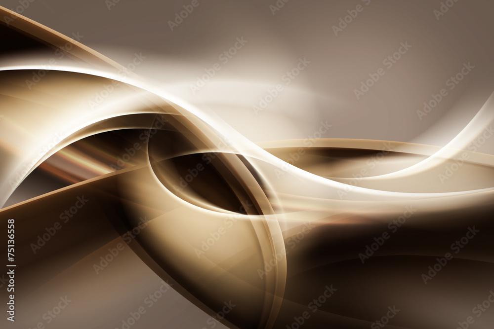złote abstrakcyjne fale