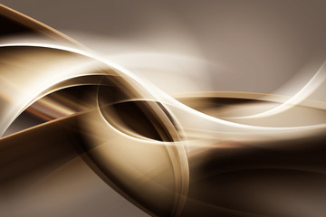 Fototapetazłote abstrakcyjne fale