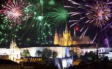 Festive Fireworks Over  Prague...