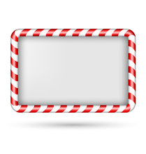 Blank Candy Cane Frame Isolate...