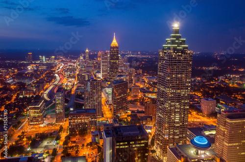 Plakat Linia horyzontu w centrum Atlanta, Gruzja