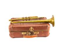 Brass Retro Wind Instrument Tr...