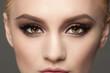 Leinwandbild Motiv Closeup of eye makeup