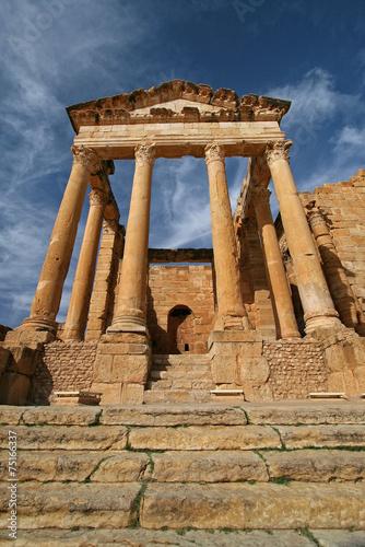 Staande foto Tunesië Ruinenstadt Sbeitla, Tunesien