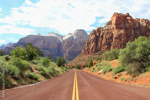 Poster  Canyon Road Berge