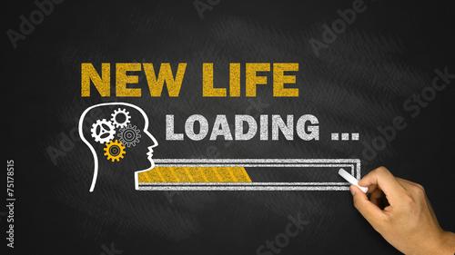 Photo  new life loading concept