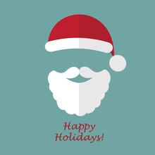 Santa Claus. Christmas Postcard