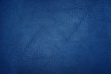 Blue Leather Texture Or Backgr...