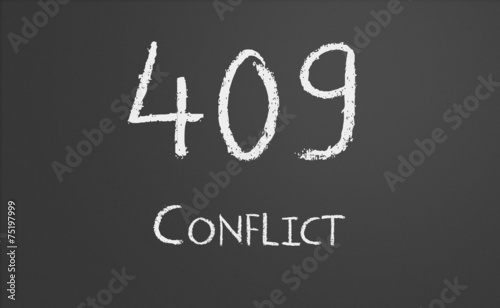 HTTP Status code 409 Conflict - Buy this stock illustration and