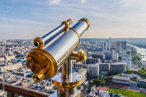 Papiers peints Paris Tourist telescope Eiffel Tower
