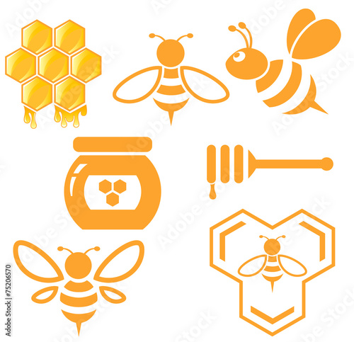 Photo  Bee and Honey set