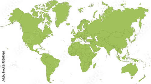 Spoed Fotobehang Wereldkaart Map of the World