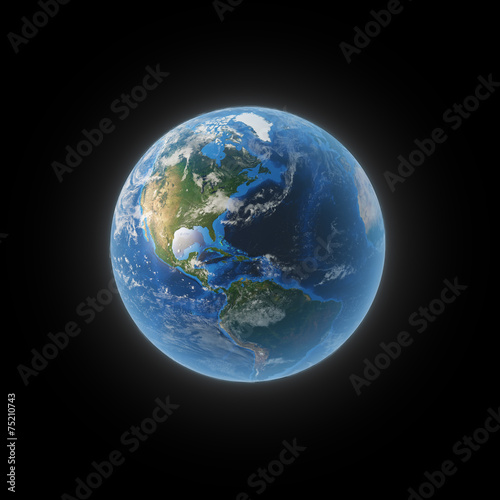 Earth from space showing North and South America Fototapet