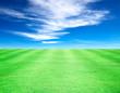 Leinwanddruck Bild - Lawn sky