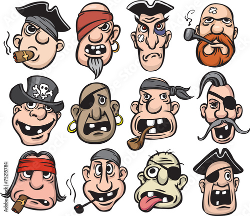 Photo Pirate faces collection