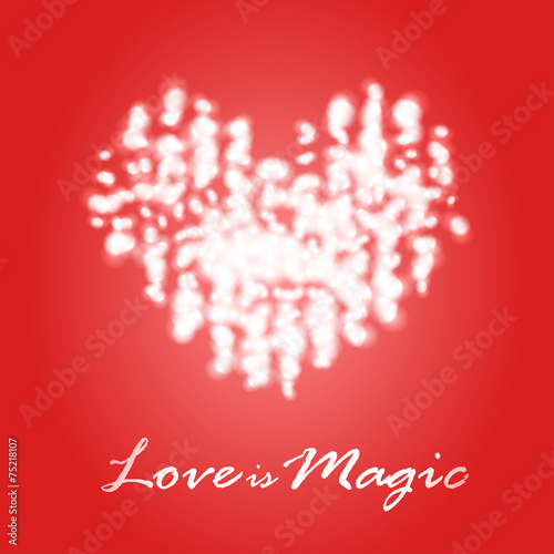 Fotografie, Obraz  Magical dream heart in Valentine's Day