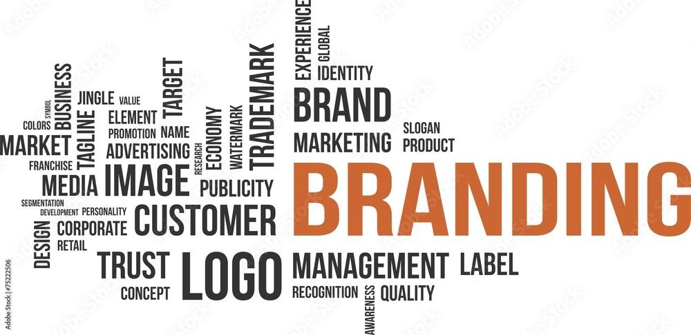 Fototapeta word cloud - branding